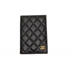 Обложка для паспорта Chanel Caviar 1607-luxe-R