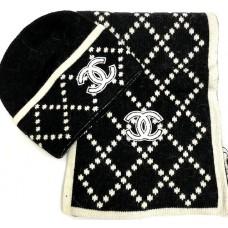 Комплект: шапка, шарф Chanel 5250-luxe-R