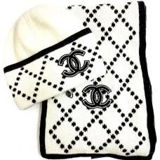 Комплект: шапка, шарф Chanel 5250-luxe1R