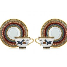 Чайная пара с ложками, Hermes 5053-1R