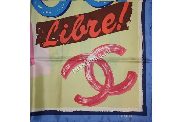 Шелковый платок Chanel Cuba 3641-luxe-R