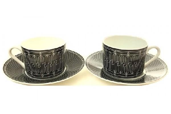 Чайная пара с ложками, Hermes 5053-3R