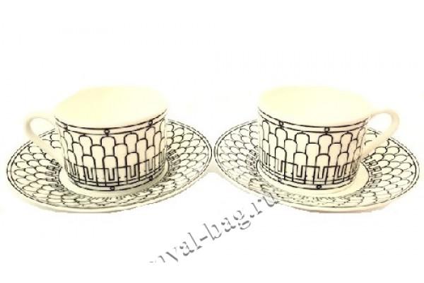 Чайная пара с ложками, Hermes 5053-4R