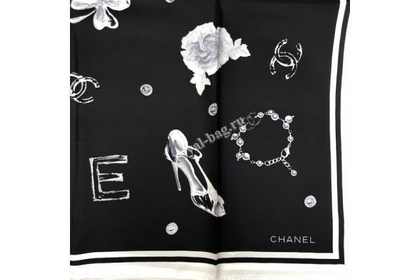 Шелковый платок Chanel A3879-luxe3 premium-R