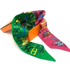 Шелковый шарфик Hermes 4012R