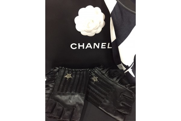 Перчатки автоледи Chanel 7010-luxe2 premium-R