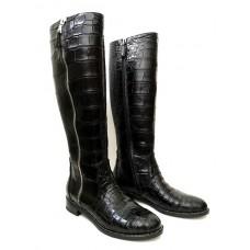 Сапоги Hermes из натуральной кожи крокодила 021022-luxe5 premium-R