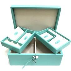 Чемоданчик-шкатулка для украшений и часов Tiffany&Co 93332-luxe5R
