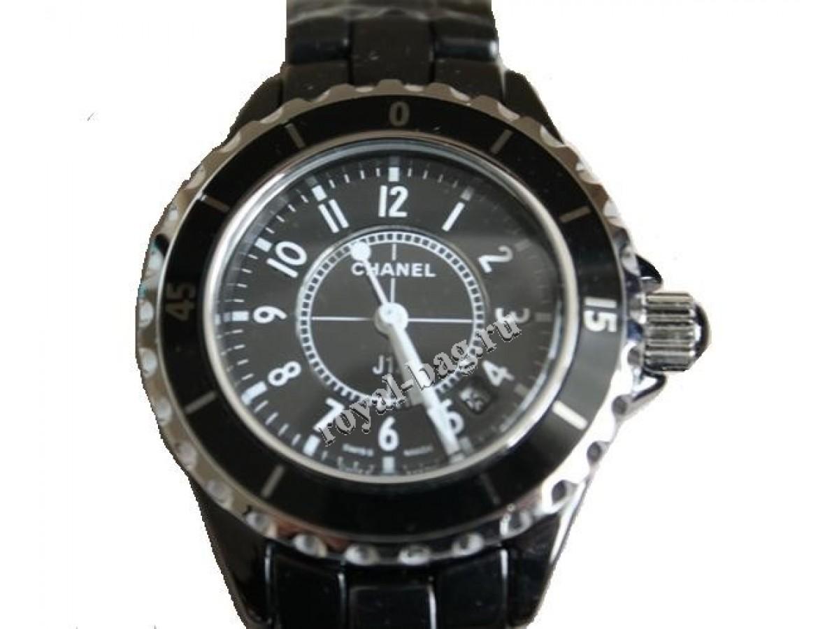 Женские часы chanel (шанель)  кварцевые, черные, керамический браслет aa39a58f474