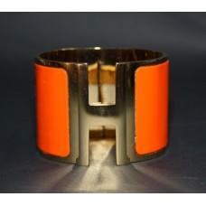 Браслет Hermes Wide Gold Enamel Bracelet 1202-2R