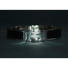 Браслет Hermes Narrow Silver Bangle Bracelet 1224R