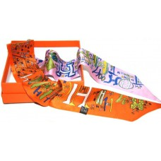 Шелковый шарфик Hermes 4074R